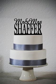 Last Name Wedding cake topper