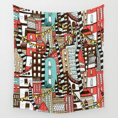 The City of Towers Wall Tapestry by  Steve Wade ( Swade). Worldwide shipping available at Society6.com. Just one of millions of high quality products available.