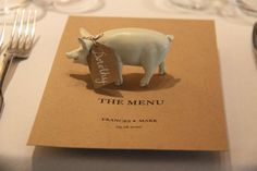 Piggy place settings are a real delight!