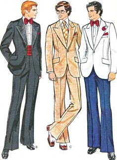 1970s Mens Suit Pattern Vogue 8890 Sportcoat Jacket by paneenjerez, $18.00