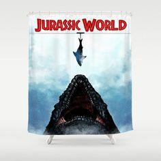 Jurassic World Mosasaurus Shower Curtain