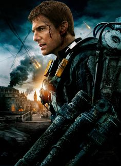 Edge of Tomorrow Poster V009 - Tom Cruise - 30 X 42 Textless Canvas