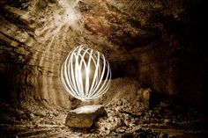 Light Painting Photos Taken Inside Marble Mines in Italy morelight4