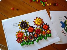 toddler craft with M&M's