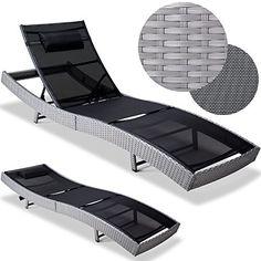 Rattan Sunlounger Chair - Rattan Garden Furniture Sun Bed 220x70x40-92cm Chair Garden Recliner Deck Chair