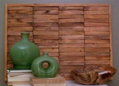 Wood Wall Art Made with Shims