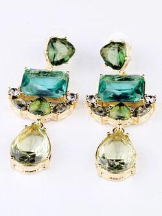 Fashionmia - Fashionmia Captivating Faux Crystal Drop Earrings - AdoreWe.com