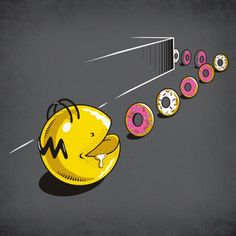 Pac-Man x The Simpsons - New Eating Habits par Eduardo San Gil
