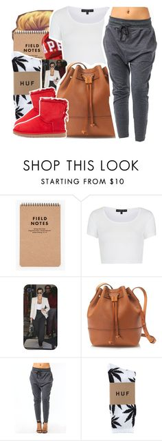 """""""Sunny"""" by we-goddess ❤ liked on Polyvore featuring A BATHING APE, Topshop, J.Crew, HUF and UGG Australia"""