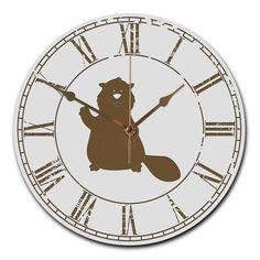 Wanduhr rund Biber mit Ballon aus MDF  Weiß - Das Original von Mr. & Mrs. Panda.  Eine wunderschöne runde Wanduhr aus hochwertigem MDF Holz mit goldenen Zeigern und absolut lautlosem Uhrwerk    Über unser Motiv Biber mit Ballon  Biber sind Nagetiere, die es lieben, Staudämme zu bauen und zu tauchen. Sie sind nach den Wassermeerschweinchen die größten lebenden Säugetiere der Welt. Der Biber kann mit seinen scharfen Schneidezähnen ganze Baumstämme fällen. Und ab und zu halten sie einen…