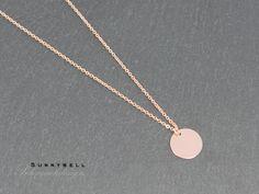 Vergoldete Ketten - Plättchen Halskette - in Rosé (glänzend) - ein Designerstück von sunnybell_shop bei DaWanda