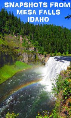 Snapshots from Mesa Falls, Idaho!! Click for full photos: http://www.mappingmegan.com/mesa-falls-photos/
