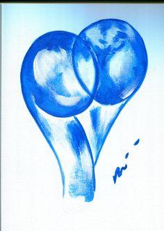 La Galerie d'Isabelle Motte | autour du bleu | valentin toi moi nous acrylique