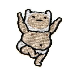 Iron on Adventure Time Buff Baby Finn embroidered patch. $5.00, via Etsy.