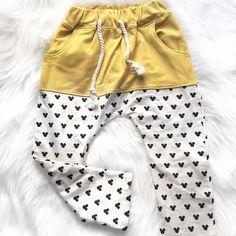 Mickey Yellow Harem Pants- Unisex Kids