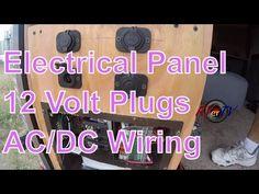 (2) Cargo Trailer Conversion...Electrical Wiring....12 Volt Plugs...AC/DC Power Panel...RVerTV - YouTube