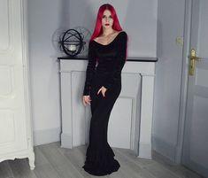 Get this look: http://lb.nu/look/8465425  More looks by Marion Lemos: http://lb.nu/lemosmarion  Items in this look:  Black Milk Clothing Dress, Kates Clothing Skirt, My Instagram, My Morticia Addams Tutorial Video   #gothic #grunge #punk #halloween #contest #bmspookbook2016 #blackmilk #lookbook