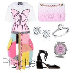 """""""Untitled #6"""" by prettysage on Polyvore featuring Marc Jacobs, Boutique Moschino, Moschino and Rolex"""