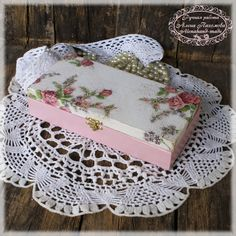 August and rose.Cute vintage look  box for money. $28.00, via Etsy.