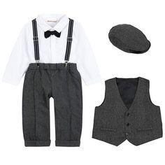 3ee4b8a97 ZOEREA Baby Boy Suit Outfits Set,3pcs Long Sleeves Gentleman Romper  Jumpsuit Baby Boy Suit