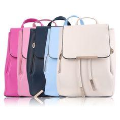Fashion Women Travel Satchel Shoulder Drawstring Backpack School Bag Eo