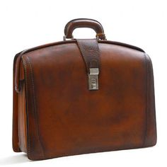 Rivera Leather Bag (Brown) When I get my doctorate my gift to myself will be a gorgeous briefcase or satchel, perhaps like this :) Briefcase For Men, Leather Briefcase, Leather Men, Leather Pieces, Leather Bags, Vintage Leather, Leather Design, Leather Accessories, Leather Working