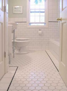 "subway tile brown grout 3X6"" bathroom and marble hex - Google Search"