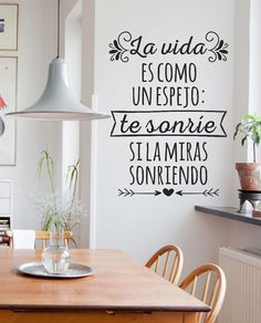 vinilos decorativos de pared frases - personalizados y más!! Bedroom Decor, Wall Decor, Lettering, Spanish Quotes, Interior Design Living Room, Ideas Para, Sweet Home, New Homes, Words