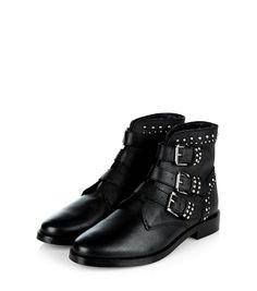 cuir botte osmose motardes boots clou rock noir bottine 4jLR5A