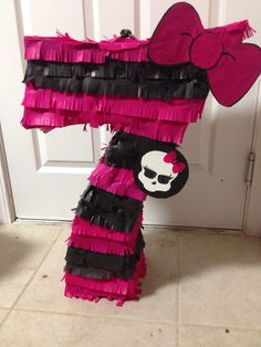 how to make number 5 pinata