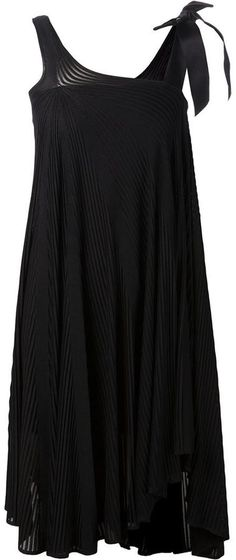 Chanel Vintage asymmetric draped dress