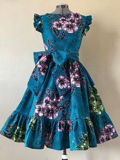 African Dresses For Kids, African Wear Dresses, Latest African Fashion Dresses, African Print Fashion, African Attire, Ankara Fashion, Africa Fashion, African Prints, African Fabric