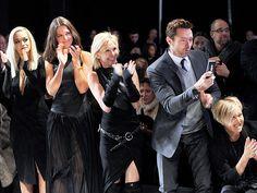 FRONT ROW AT DONNA KARAN photo | Rita Ora, Deborra-Lee Furness, Hugh Jackman, Katie Holmes, Trudie Styler 2014