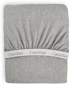 Calvin Klein Modern Cotton Body California King Fitted Sheet - Gray