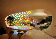 The Nautilus House by Javier Senosiain - Dining Area