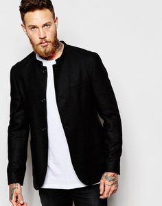 ASOS+Slim+Blazer+With+Mandarin+Collar