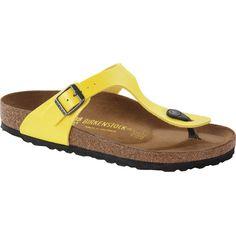Birkenstock Gizeh Sandal ($95) ❤ liked on Polyvore featuring shoes, sandals, birkenstock shoes, birkenstock footwear, suede sandals, suede leather shoes and birkenstock