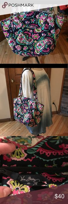 Vera Bradley Glena Shoulder bag in Petal Paisley NWOT. Never carried. The Glenna is one of the most popular styles for Vera Bradley. Has large front and back pockets interior has three slip pockets and a zipper pocket and still roomy. 11 inch strap drop. Vera Bradley Bags Totes