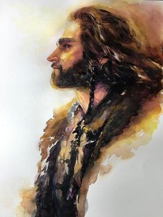 Hail thorin son of thrain king under the mountain⚔️ Hobbit Art, O Hobbit, Tolkien Books, Jrr Tolkien, Fili Et Kili, Popular Book Series, Bagginshield, Desolation Of Smaug, Thorin Oakenshield