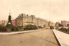 A lovely hand-tinted postcard showing the Royal Pier Hotel and Southsea Terrace Portsmouth England, Beautiful Places To Visit, World War Two, Hampshire, Terrace, Train, History, Balcony, World War Ii