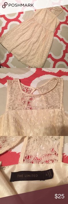 The Limited lace dress Gorgeous dress with a unique top and back. Good used condition The Limited Dresses