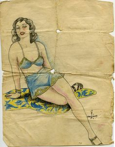 Drawing from the estate of a WW2 soldier