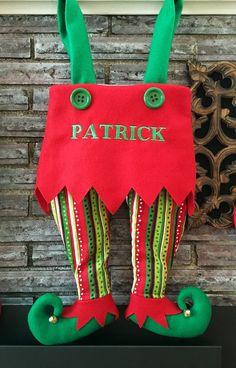 Personalizado Elf Navidad medias pantalones de Polkadot