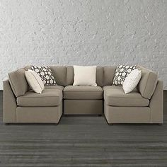 Becky U Shaped Sectional By Bassett Furniture   Contemporary   Sectional  Sofas   Raleigh   Bassett Furniture