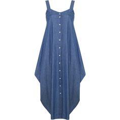 20 Off-Denim Maxi Dress Blue Jean Dress Long Denim Dress Draped Dress Summer Dress Tank D featuring polyvore fashion clothing dresses black outerwear women's clothing etsy.com