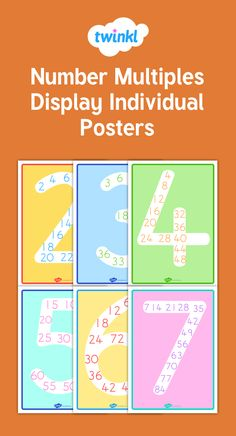 These display posters are a perfect way to show the multiples of different numbers, making them a great addition to your classroom!