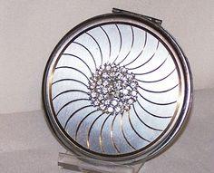 Vintage Compact - Rhinestone Volupte' Cartwheel - Unused | eBay
