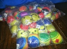 1 Dozen Hacky Sack Balls, Various Designs NIP*Just learned what a tiered auction and offered to double the dozen on this auction if I get over $15,000 credits.