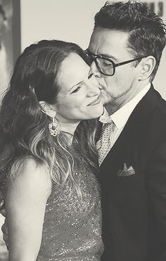 Robert Downey Jr. and his angel. - Iron Man 3, Hollywood Premiere