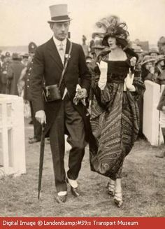 Colonel and Mrs McGrath on Gold Cup Day at Royal Ascot ,1921
